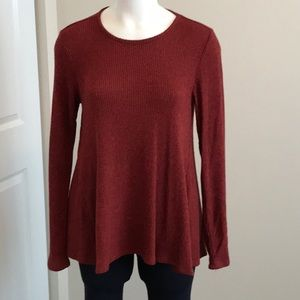 Olivia Sky Maroon Red high low Top Medium
